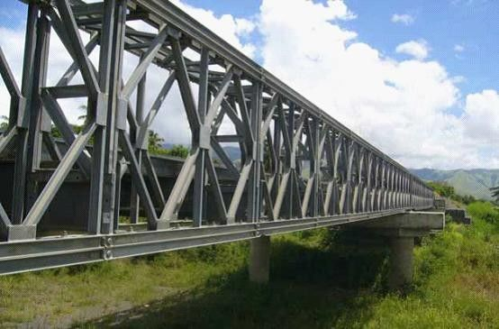Assembly Steel Bailey Bridge deck truss Concrete Deck , Galvanized