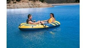 Two Adults Ferry Barge Rubber Dinghy , Heavy Duty Inflatable Boat